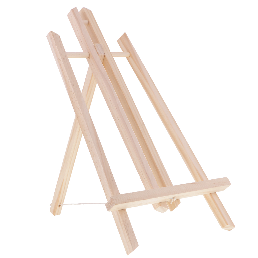 Mini Natural Color Wood Display Easel For Painting Craft Drawing 40cm