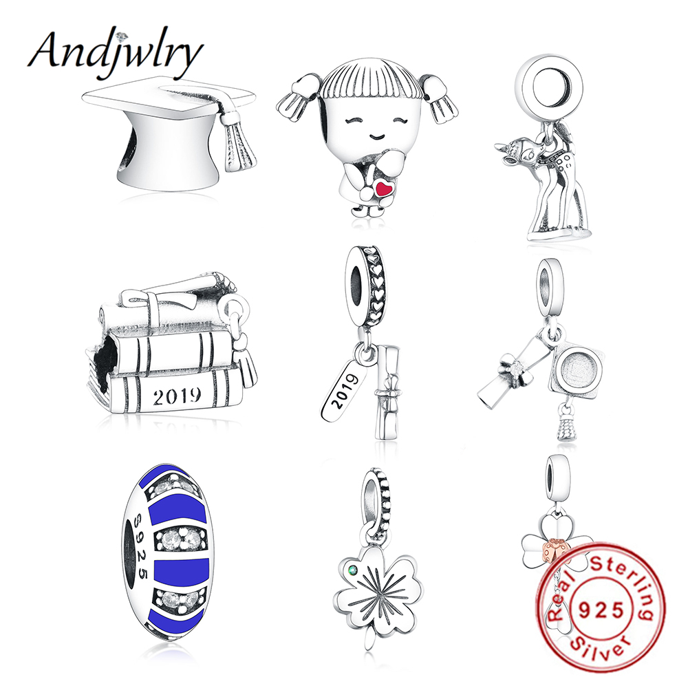 Charm-Beads Jewelry Graduation-Charms Dangle-Pendant Fit Pandora 925-Sterling-Silver title=