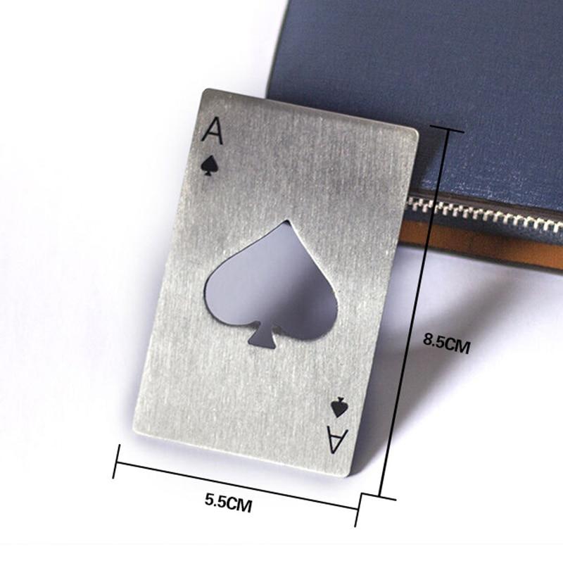 Новый стильный туз пик покер открывалка для бутылок Покер игральных карт Soda Кепки для бутылок подарок Кухня панели инструментов