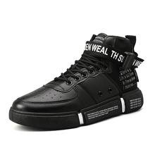 Trend Hot Sale Men's Fashion Walkingl Shoes High Top Sneakers 2019 Spring New Men Shoes High Quality Comfortable Sports Shoes стоимость