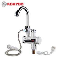 Купить с кэшбэком 3000W Instant Electric Shower Water Heater Instant Hot Faucet Kitchen Electric Tap Water Heating Instantaneous Water Heater