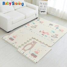 Детская блестящая Детская мозаика XPE пена детский коврик для игры 180*120*2 см (71*47 * 0.8in) 6 шт. коврики пены От 0 до 8 лет водонепроницаемый гостиная