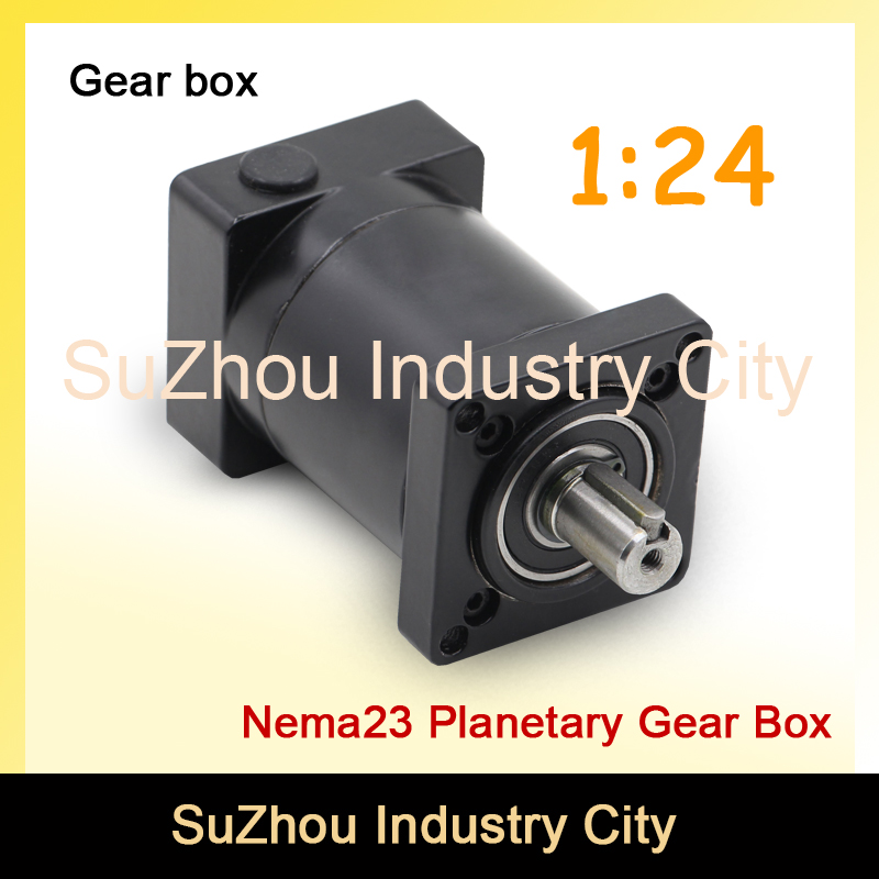 1:24 Nema23 stepper Motor Planetary Reduction Ratio 24:1 planet gearbox 57 motor speed reducer, High Torque high quality !! цена и фото