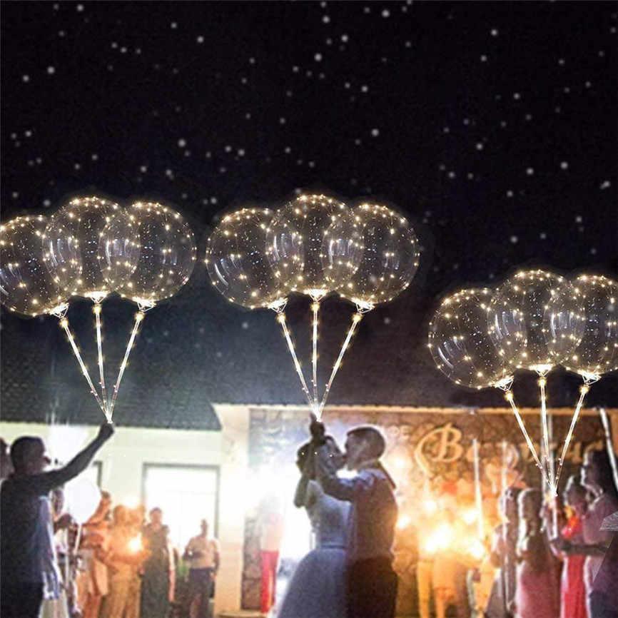 Многоразовые Светящиеся светодиодный шар прозрачный Круглый Декоративные пузырьки Лобос cumpleaños Infantiles вечерние Декор светодиодный шар света J #2