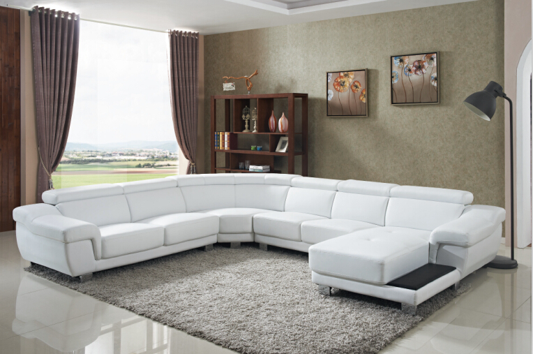 Sofa set living room furniture with large corner for for Sofas grandes modernos