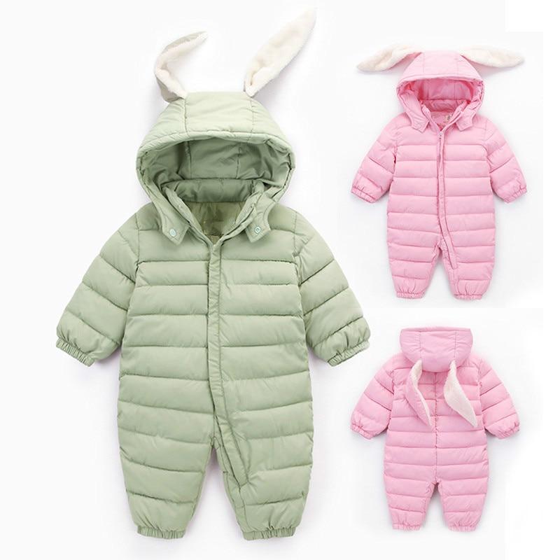 34d4731cbf1e 2018 Autumn Winter Cute Jumpsuit Baby Newborn Snowsuit Boy Warm Down ...