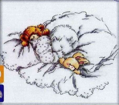 Top Quality Nostalgic Cute Counted Cross Stitch Kit Good Night Baby Infant Child Sleeping Sleep