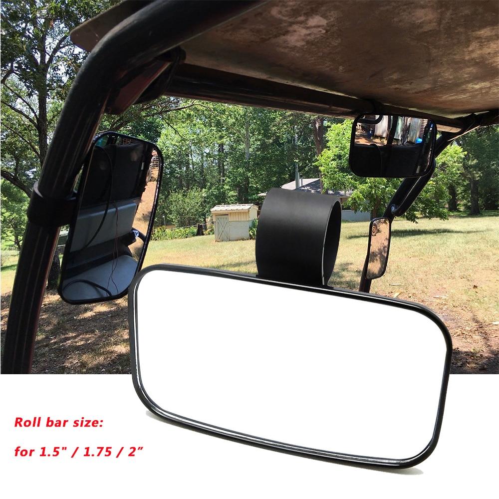 "Mirror Rearview 15in Wide UTV Tab Mount Roll Cage Tube 1.75/"" 2/"" Side by Side SXS"