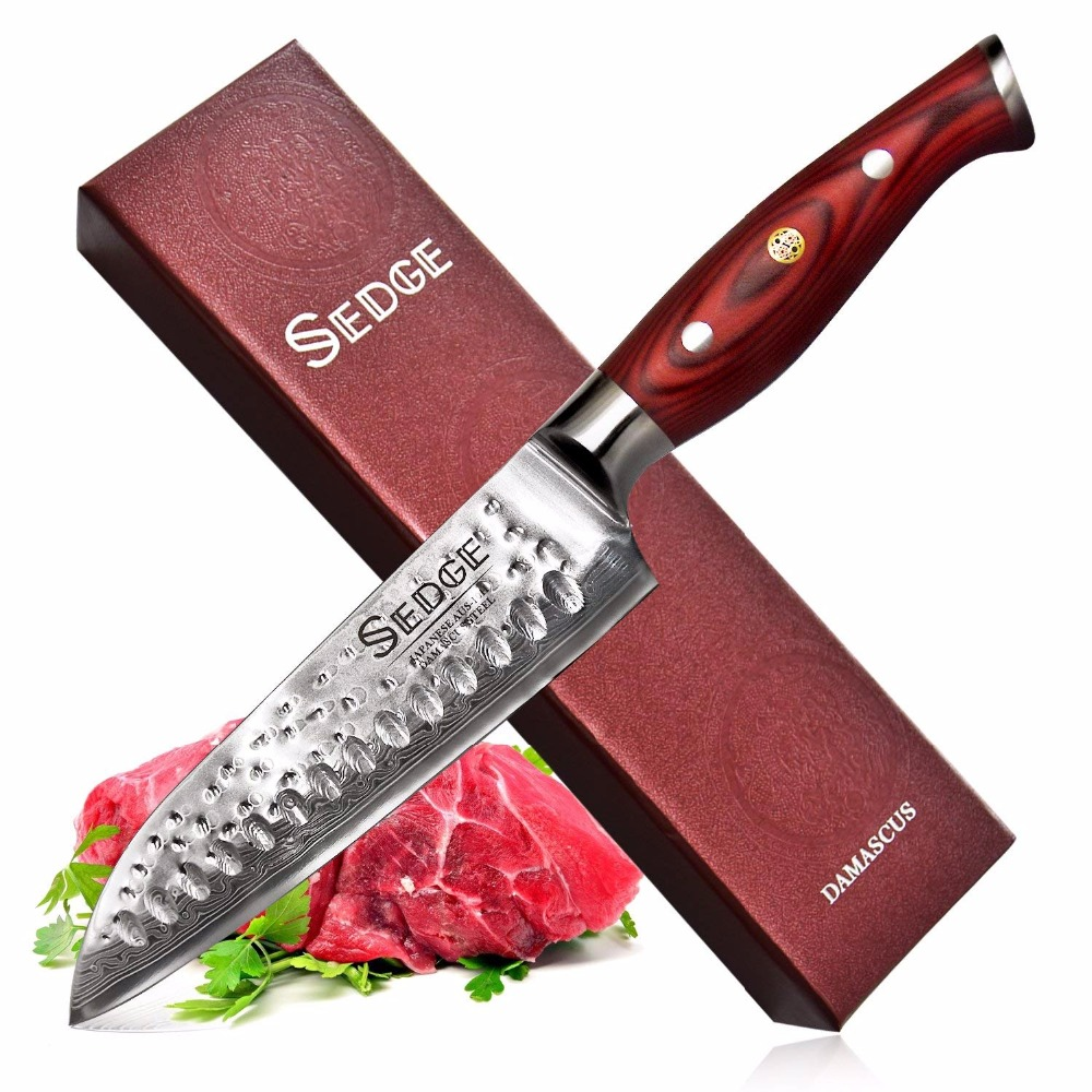Carex Santoku Couteau-Japonais 67 Couches AUS-10 Damas Couteau de Cuisine En Acier Inoxydable-Ergonomique G10 Poignée-Cadeau Boîte -7