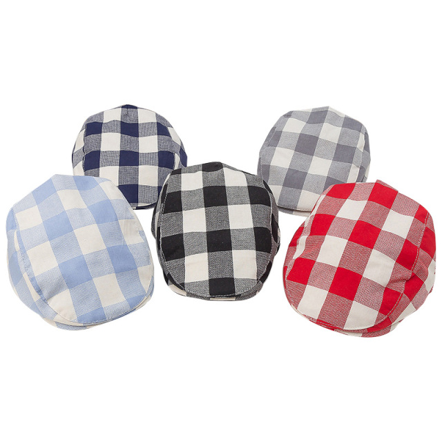 Fashion Baby Hat Handsome Cotton Linen Baby Boy Cap Beret Elastic Kids Hat Baby Accessories for 1-2 Years 3 Colors