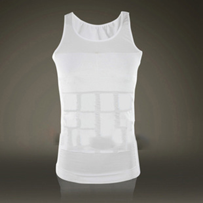 Qimmrs Men slimming vest body shaper belt abdomen drawing slim belly underwear reduce weight men waist trainer hot shaper -E