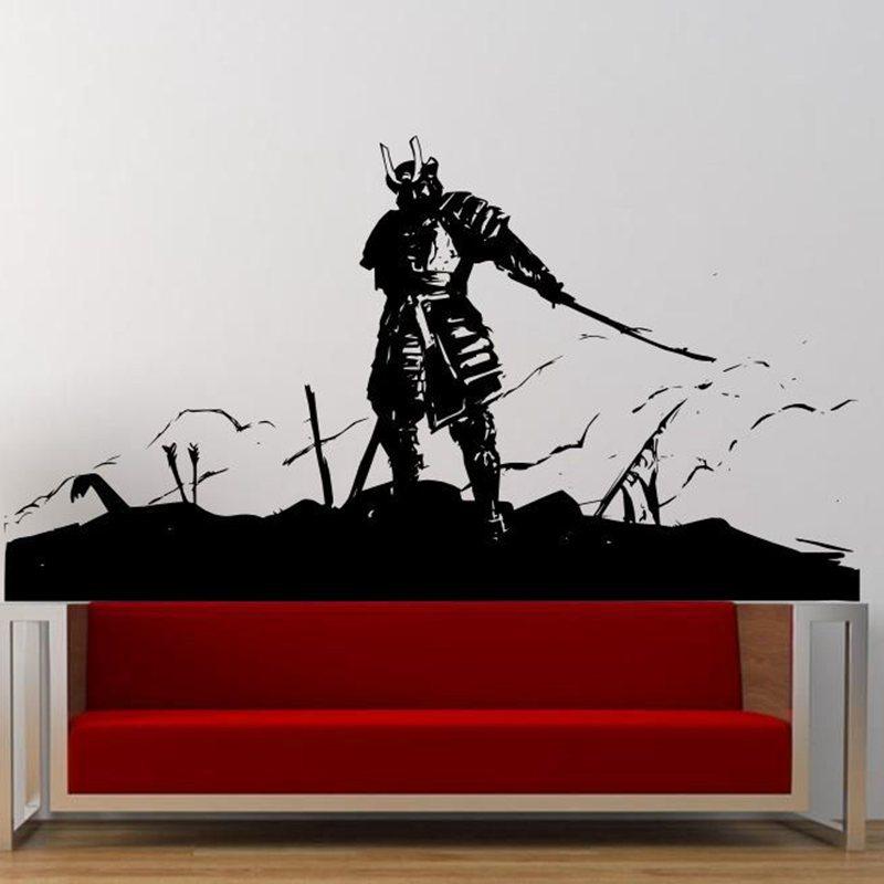 Popular samurai wall decal buy cheap samurai wall decal for Appliqu mural autocollant