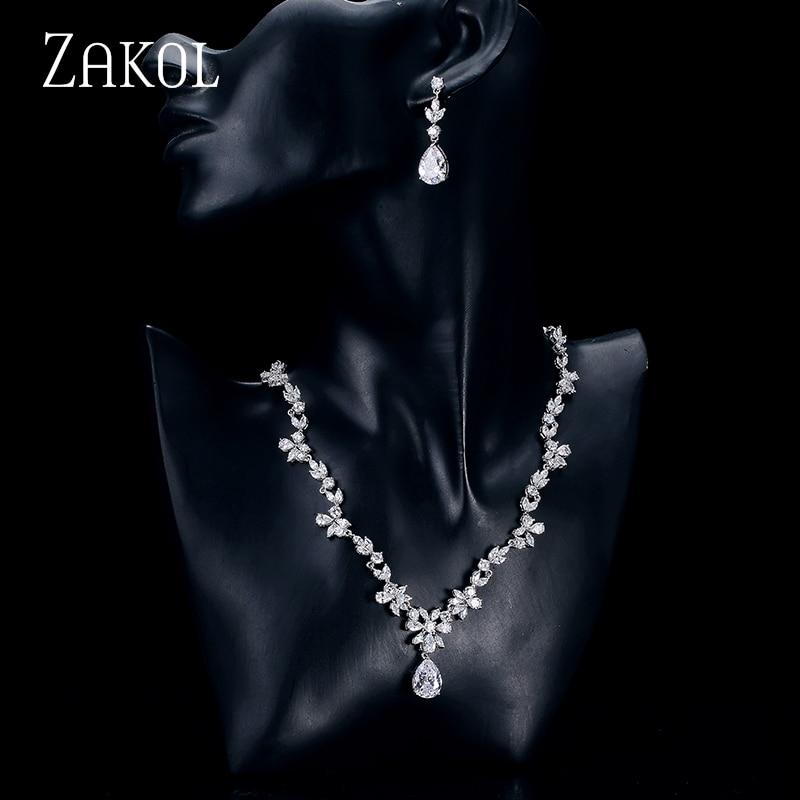 ZAKOL Fashion Cluster Flower Cubic Zirconia Crystal Women Earrings - Bisutería - foto 4