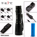 5000Lumens Flashlight LED CREE XM-L T6 Torch Zoom Tactical Flashlight Camping Light +1*18650 +AC/Car Charger