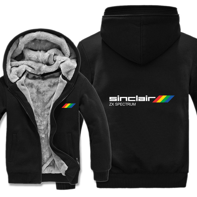 Sinclair Zx Spectrum Hoodies Winter Men Pullover Wool Liner Jacket Thicken Sinclair Zx Spectrum Sweatshirts