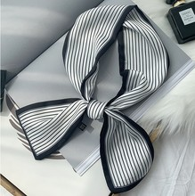 Little Silk Scarf Female Summer Decoration Korean Long Narrow Spring and Autumn Hundred Set Wave Point Thin