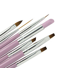 New 7pcs/set Nail Brushes Wood Handle Design Painting Pen Drawing 3D Pattern Manicure Tools