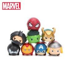 3,5*2 см 8 шт. игрушки Marvel Q версия Мстители 3 Бесконечная война Человек-паук Железный человек Халк Веном Тор Набор Фигурки Модель Куклы