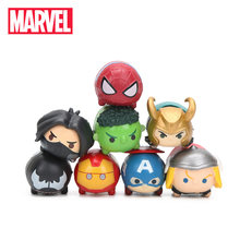 3.5*2cm 8pcs Brinquedos Q Versão The Avengers Marvel 3 Infinito Guerra Venom Spiderman Ironman Hulk Thor action Figure Set Modelo Bonecas(China)