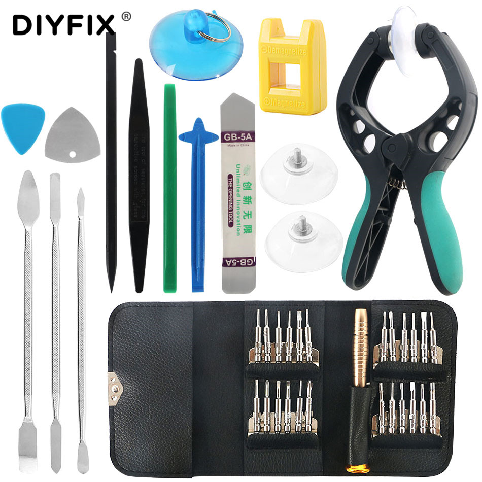 DIYFIX 38 in 1 Mobile Phone Screen Opening Pry Crowbar Screwdriver Kits