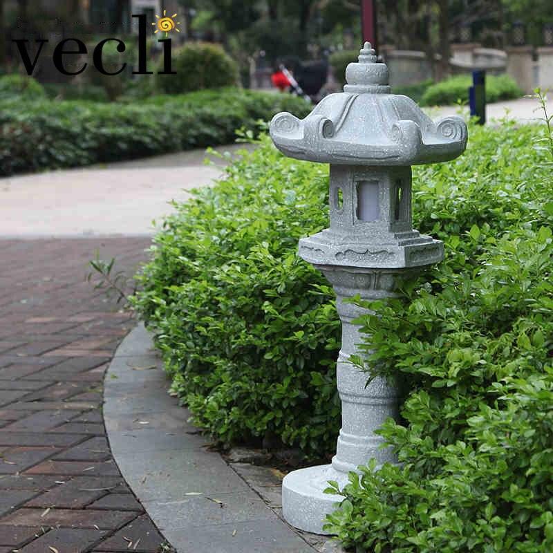 Jardín creativo Lámpara de césped Imitación de piedra Paisaje al aire libre Farola Impermeable Anticorrosión Iluminación