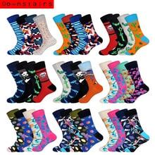 Korean Style Men Socks 4pairs/lot Classical Gifts f