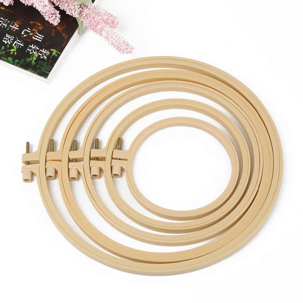 1Pcs/lot 9-27.5cm Plastic Frame Embroidery Hoop Ring DIY Needlecraft Cross Stitch Machine Round Loop Hand Household Sewing Tools