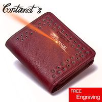 Contact S 2017 Womens Wallet Leather Genuine Small Short Wallets And Purses Luxury Brand Coin Pocket