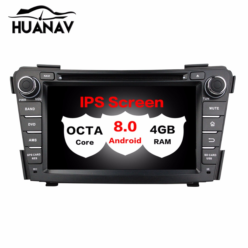 Car DVD Player <font><b>GPS</b></font> For <font><b>Hyundai</b></font> <font><b>I40</b></font> 2011-2013 2014 Glonass Navi RDS Radio wifi 4G Bluetooth Android 8.0 Octa Core 4GB RAM image