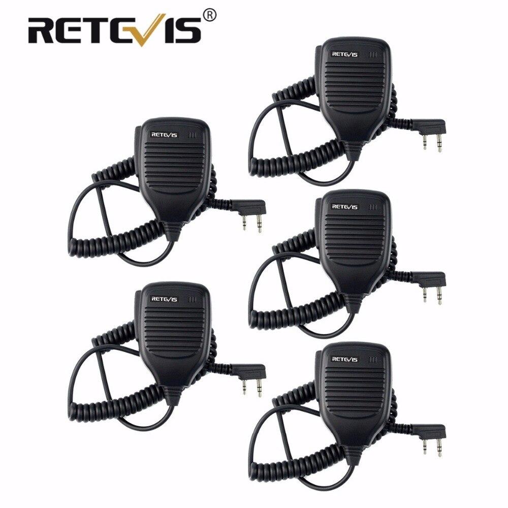5X PTT Lautsprecher Mikrofon Walkie-talkie Mic Zubehör Für Kenwood Retevis H777 RT7 RT22 Für Baofeng UV-5R UV-82 für WLN KD-C1