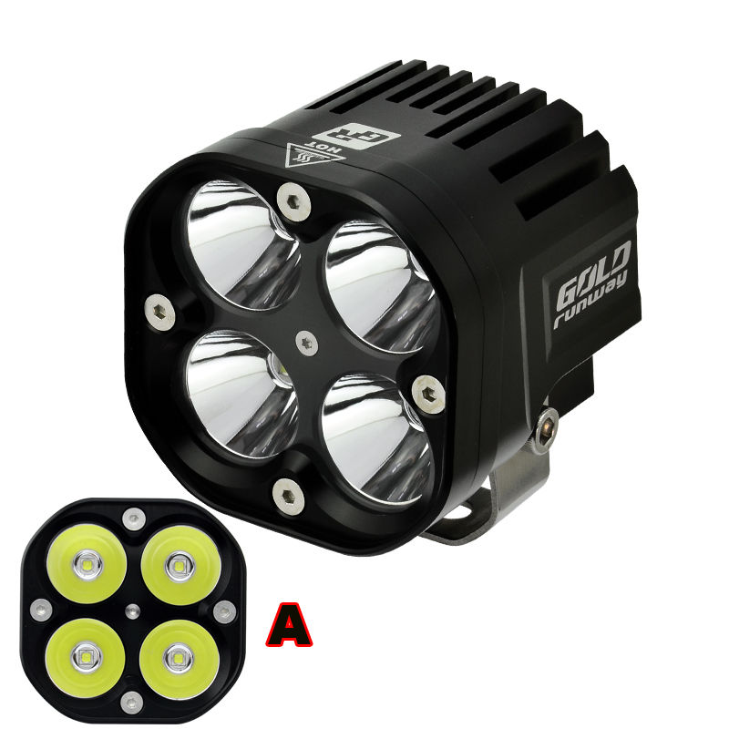 2pcs 40W Bright U3 LED Driving Work Spot font b Light b font for Harley Honda