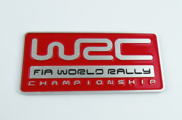 3D Aluminum Auto car red WRC World Rally Championship Emblem Badge Sticker sbk x superbike world championship