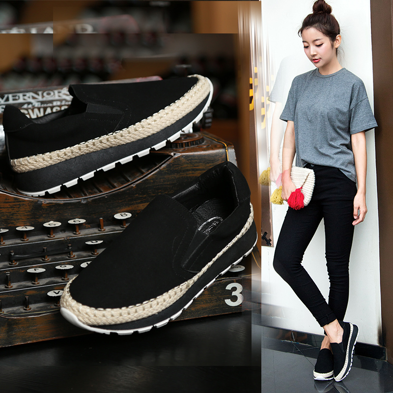 2017 New Thick Soles Woman Loafers Summer Woman Shoe Fashion Korea TPR Women Flats Shoes Slip On Braided Fisherman Shoes Mujer new brand 2016 designer shoes woman flats summer ballerina shoe for women ballets flats loafers femme chaussures