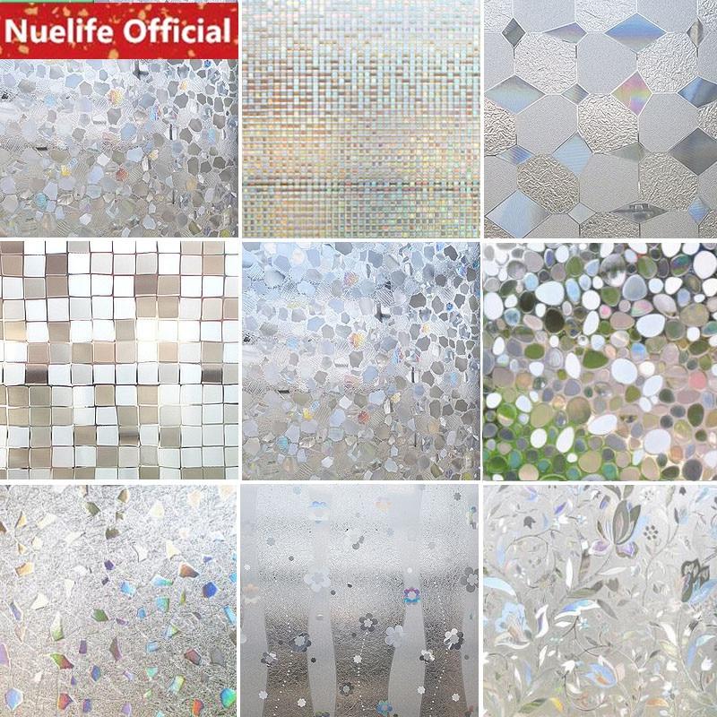 60x100cm Irregular Pattern Pattern Glass Film Bathroom Kitchen Office Shop Bedroom Living Room Balcony Door Opaque Window Film