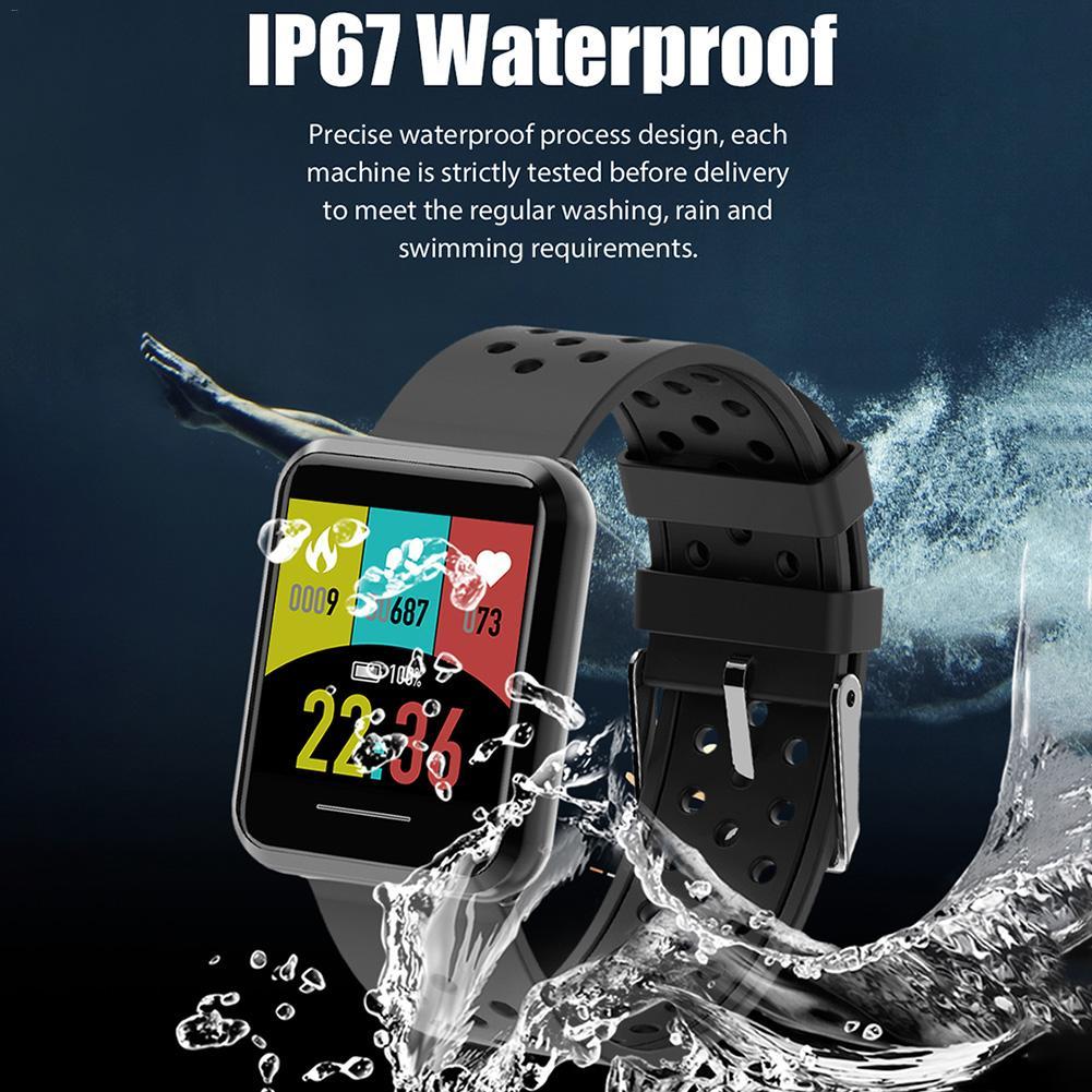 1 28 Inch IP67 Waterproof Color Screen Step Heart Rate Information Reminder Smart Bracelet ECG Blood Pressure Smart Bracelet in Smart Wristbands from Consumer Electronics
