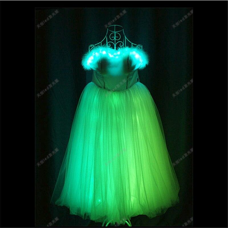 TC-170 Programmable Ballroom dance dresses wanita led kostum cahaya - Hari libur dan pesta - Foto 3