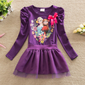 New 2016 Summer Dress 3-7 Years Baby Girls Cartoon Elsa Dress Children Clothing Girls Princess Tutu Dress Baby Girls Clothes