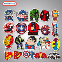 cartoon stickers of DC&MARVEL's Superhero 20 colors for Suitcase car skateboard of graffiti Styling Batman Superman Hulk Iron