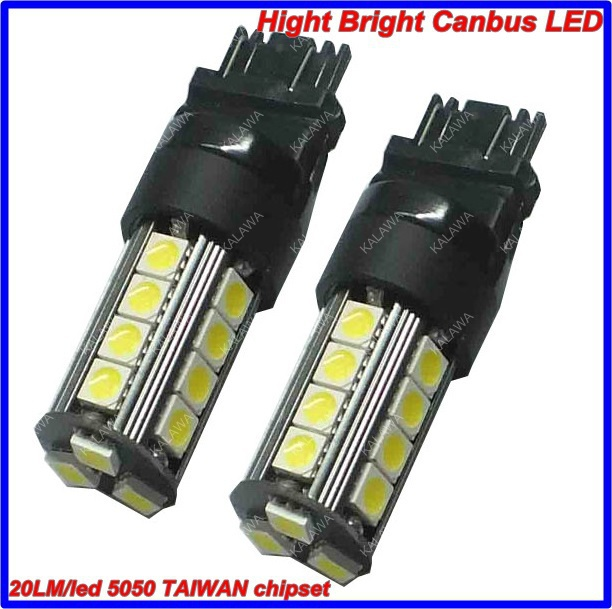 2pcs 7443 T20 23 SMD 5050 280LM TAIWAN chipset High bright CANBUS Error Free Car LED