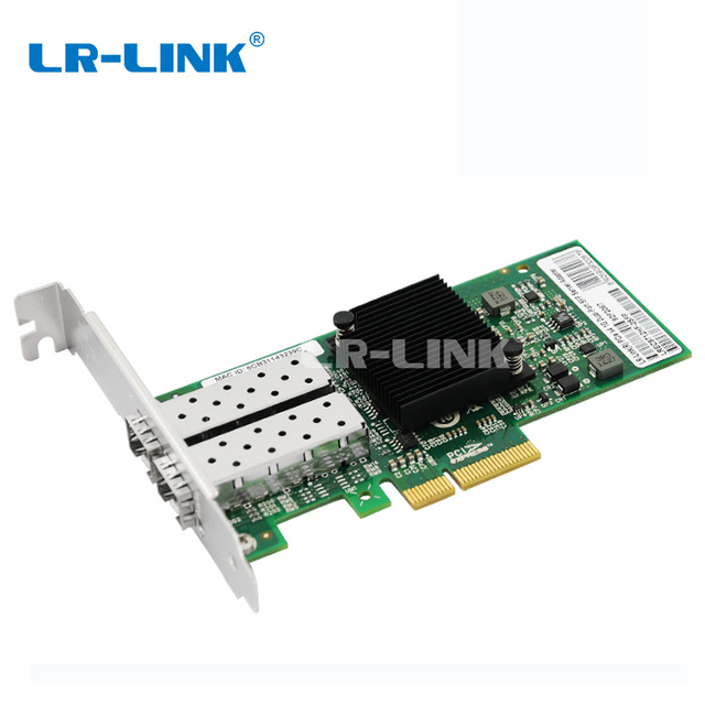 LR LINK 9712HF 2SFP Dual Port Gigabit Ethernet Fiber Optic lan network card 1Gb PCI E network Adapter Intel I350 F2 Compatible