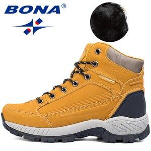 Image 5 - BONA bottes de randonnée pour homme, baskets de Jogging, de marche en extérieur, Style populaire, nouvelle collection à lacets, livraison gratuite