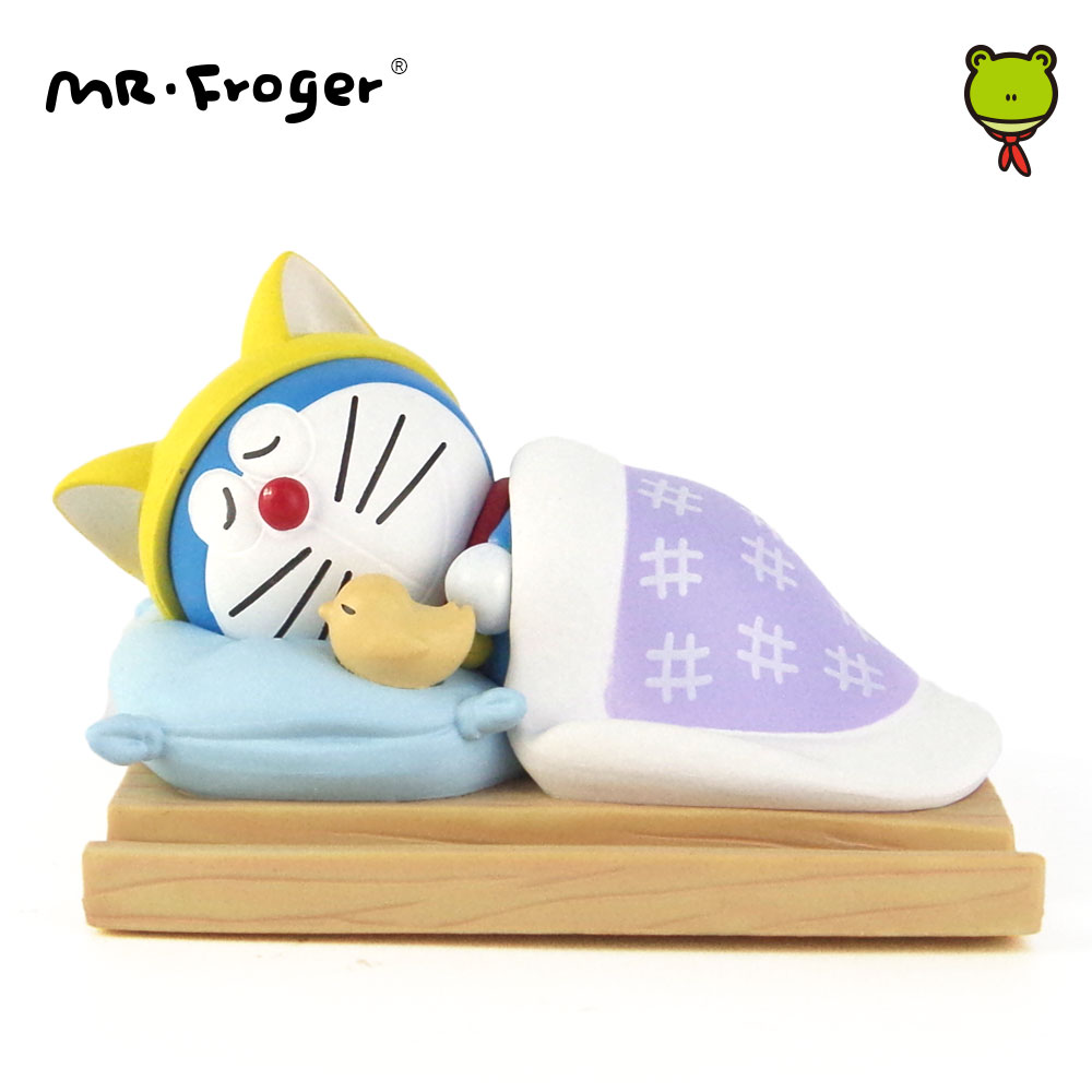 Mr.Froger Cartoon Robot Cat Sleeps Japanese Anime Action Figures Mobile Phone Stand Plastic Toys Collection Girlfriend Gifts new lps lovely toys animal cartoon cat dog action figures collection kids toys gifts