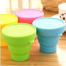 1 шт., портативная силиконовая складная чашка для воды, складная стильная воронка, бункер для путешествий, для кемпинга, посуда для напитков, кухонные аксессуары