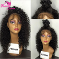 Brazilian Kinky Curly Full Lace Wig Human Hair With Baby Hair Virgin Hair Free Part Kinky Curly Lace Front Wigs For Black Women