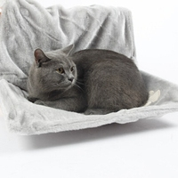 Super Miękkie Kota Hamak z Stabilna Rama Instalacji Łatwy Do Spania Hodowla Kotów Kot Wielofunkcyjny Łóżko Chłodnicy Pad Wiszące Łóżko Psa