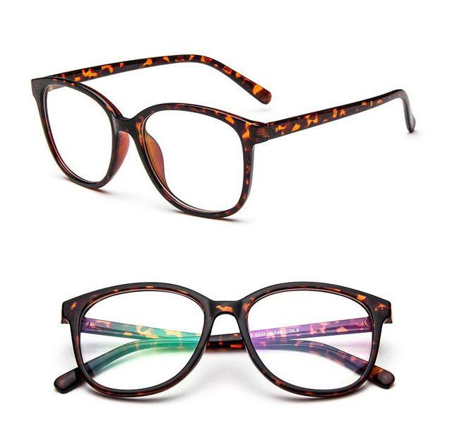 Online Shop Classic Solid Color Glasses Men Women\'s Round Glasses ...