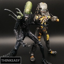 Aliens vs Predator AVP Ganso Lone wol Joint can move doll movie Person Model Decoration figure Toys gift computer table decorate 18cm neca aliens action figure ricco frost private figure toy with weapon helmet alien vs predator avp model doll