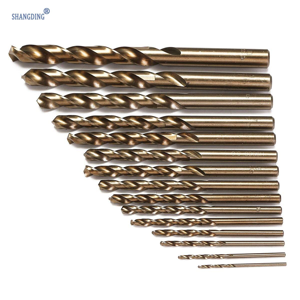 Newest 15pcs/set HSS-CO 1.5-10mm High Speed Steel M35 Cobalt Twist Drill Bit 40-133mm Length Wood Metal Drilling Top Quality 15pcs set hss co 1 5 10mm high speed steel m35 cobalt twist drill bit wood metal working drilling power tools set mayitr