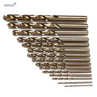Newest 15pcs Set HSS CO 1 5 10mm High Speed Steel M35 Cobalt Twist Drill Bit