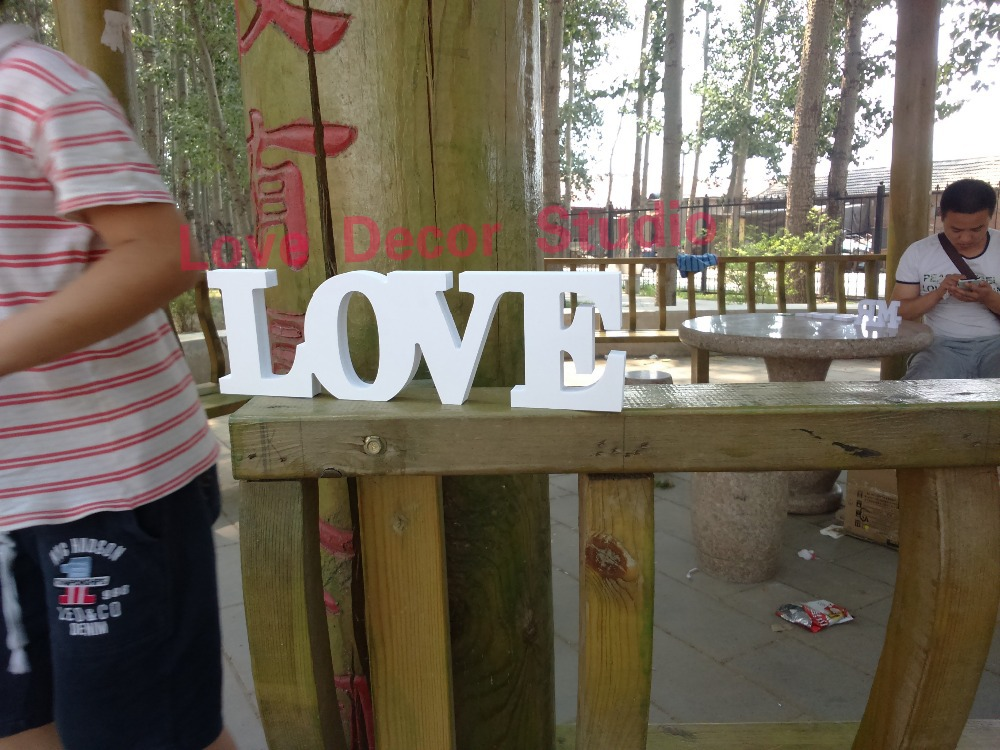 wooden pvc letters love Hand Painted on Reclaimed with Personalized Anniversary Date Wedding letters Beach Wedding Reception